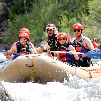 Truckee River Rafting Entering Class 3 Jaws Rapid