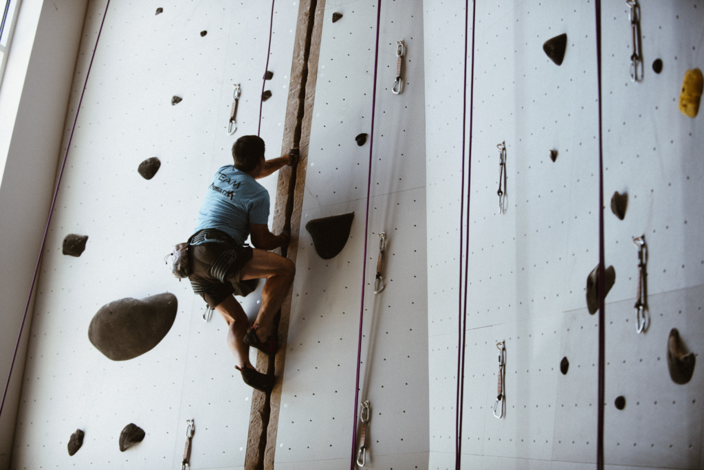 Intro to Crack Climbing Class at Mesa Rim Climbing & Fitness