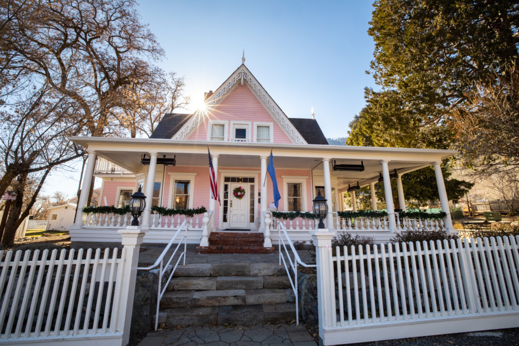 The Pink House in Genoa. Photo Credit Whitney James